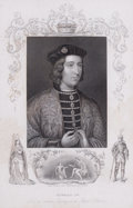 Prints, EDWARD IV. 19th century. 9 x 6 inches (22.9 x 15.2 cm).Engraving aftrer an ancient painting in the Royal Co...