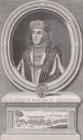 Prints, KING RICHARD III . 18th century. 14 x 8-1/2 inches (35.6 x21.6 cm). Etching. Elton Hyder III Collection Formerly at t...