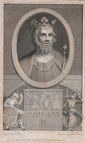 Prints, EDWARD II. William Sherwin, 19th century. 7-3/4 x 5 inches(19.7 x 12.7 cm). Engraved by William Sherwin des...