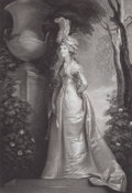 Prints, CAROLINE, PRINCESS OF WALES. 19th century. 22-3/4 x 16-1/2inches (57.8 x 41.9 cm). Etching by I. Murphy after a paintin...