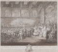 Prints, JOHN MILLER (British, 1820-1871). King Henry III Renewing andConfirming Magna Carta, 18th century. Engraving. 16 x 18 i...