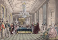 Prints, THE INSTALLATION OF HIS IMPERIAL MAJESTY AS KNIGHT OF THEGARTER. 19th century. 13-1/2 x 19 inches (34.3 x 48.3 cm).Col...