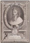 Prints, EDWARD LUTTRELL (British, 1650-1710). King Henry I, 18thcentury. Engraving. 11-1/4 x 7-3/4 inches (28.6 x 19.7 cm). Eng...