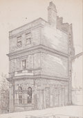 Prints, THE GARDEN HOUSE, CLEMENT'S INN, FROM N.W.. 19th century. 9x 6 inches (22.9 x 15.2 cm). Lithograph. Elton Hyder III C...