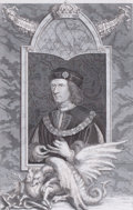 Prints, RICHARD THE III, KING OF ENGLAND. 18th century. 12 x 8inches (30.5 x 20.3 cm). Engraved by G. Vertue after ...