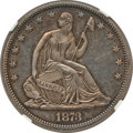 Proof Seated Half Dollars: , 1873 50C No Arrows PR62 NGC. NGC Census: (26/100). PCGS Population(41/104). Mintage: 600. Numismedia Wsl. Price for proble...