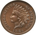Proof Indian Cents: , 1884 1C PR66 Brown NGC. CAC. NGC Census: (60/12). PCGS Population(18/4). Mintage: 3,942. Numismedia Wsl. Price for problem...