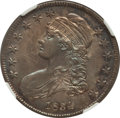 Bust Half Dollars: , 1834 50C Small Date, Small Letters AU58 NGC. O-116. PCGS Population(100/154). (#6166)...
