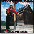 Music Memorabilia:Autographs and Signed Items, Stevie Ray Vaughan Signed Soul To Soul LP (Epic 40036, 1985)....