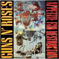 Music Memorabilia:Autographs and Signed Items, Guns N' Roses Band Signed Appetite For Destruction LP (UK -WX 125, 1987)....