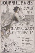 Prints, GEORGES PICARD (French, 1875-1946) . Journee de Paris, 1915.Lithograph. 47-1/4 x 31-1/4 inches (120.0 x 79.4 cm). Elt...