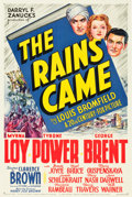 "Movie Posters:Adventure, The Rains Came (20th Century Fox, 1939). One Sheet (27"" X 41"")Style A.. ..."