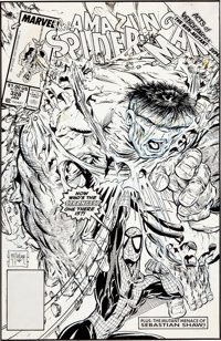 Todd McFarlane The Amazing Spider-Man #328 Cover Original Art (Marvel, 1990)