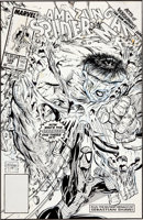 Featured item image of Todd McFarlane The Amazing Spider-Man #328 Cover Original Art (Marvel, 1990)....