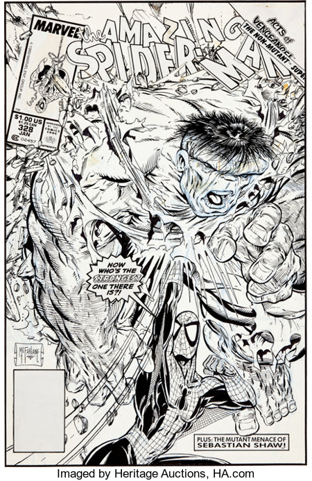 Todd McFarlane The Amazing Spider-Man #328 Cover Original Art (Marvel, 1990)....