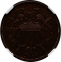 Proof Two Cent Pieces: , 1869 2C PR64 Brown NGC. NGC Census: (19/23). PCGS Population(13/5). Mintage: 600. Numismedia Wsl. Price for problem free N...