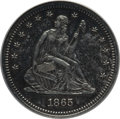 Seated Quarters: , 1865 25C MS61 ANACS. Re-Punched Date, Briggs-1A. NGC Census:(2/12). PCGS Population (2/20). Mintage: 58,800. Numismedia Ws...