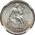 Seated Half Dimes: , 1861 H10C MS65 NGC. NGC Census: (56/38). PCGS Population (39/22).Mintage: 3,361,000. Numismedia Wsl. Price for problem fre...