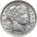 Barber Half Dollars: , 1911 50C MS63 NGC. NGC Census: (45/84). PCGS Population (66/146).Mintage: 1,406,543. Numismedia Wsl. Price for problem fre...