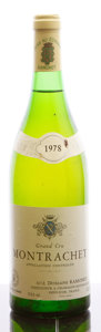 White Burgundy, Montrachet 1978 . Ramonet . lnl, lbsl. Bottle (1). ...(Total: 1 Btl. )