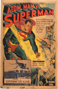 Atom Man vs. Superman Poster Signed by Kirk Alyn (Columbia, 1950)