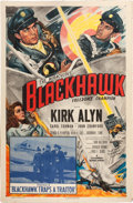 Movie/TV Memorabilia:Posters, Blackhawk Serial Poster Signed by Kirk Alyn (Columbia, 1952)....