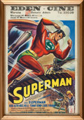 Movie/TV Memorabilia:Posters, Superman Serial Belgian Movie Poster (Columbia, 1948)....