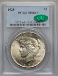 Peace Dollars, 1928 $1 MS64+ PCGS. CAC....