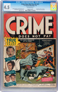 Golden Age (1938-1955):Crime, Crime Does Not Pay #22 (#1) (Lev Gleason, 1942) CGC VG+ 4.5 Off-white pages....