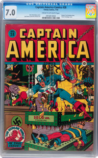 Captain America Comics #28 (Timely, 1943) CGC FN/VF 7.0 Cream to off-white pages