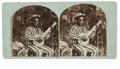 Antiques:Black Americana, A Vivid, Detailed Stereoview of a Black Banjo Player The AfricanAmerican banjo player is wearing broad stripes. A note on ...