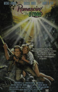 "Movie/TV Memorabilia:Autographs and Signed Items, Michael Douglas Signed ""Romancing the Stone"" Poster. DirectorRobert Zemeckis (""Forrest Gump"") scored a hit with this 1984 a..."