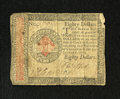 Colonial Notes:Continental Congress Issues, Continental Currency January 14, 1779 $80 Very Fine. This highestdenomination of Continental currency is actually much scar...