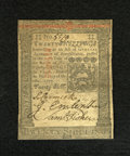 Colonial Notes:Pennsylvania, Pennsylvania October 1, 1773 20s About New. A single lightcenterfold is detected on this wonderfully embossed and boldlysi...