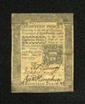 Colonial Notes:Pennsylvania, Pennsylvania October 25, 1775 18d Choice Extremely Fine. Thetechnical grade on this note does not do justice to its true ae...