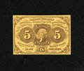 Fractional Currency:First Issue, Fr. 1230 5c First Issue Gem New. A fresh, original note, with excellent margins, bright colors and perfect paper surfaces....