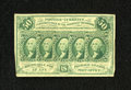 Fractional Currency:First Issue, Fr. 1312 50c First Issue Very Fine. This note exhibits even circulation with the edge coming close to the frame line near th...