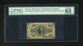 Fractional Currency:Third Issue, Fr. 1254SP Narrow Margin Face Specimen 10c Third Issue PMG Choice Uncirculated 63. The holder states that this note was once...