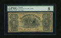 Canadian Currency: , DC-13c $1 1898. Though well circulated most features remain quitelegible on this early Dominion Ace graded Very Good 8 ...