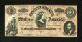Confederate Notes:1864 Issues, T65 $100 1864. This is an attractive C-note with a full Confederate Treasury stamp on the back. Crisp Uncirculated....