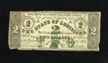 Obsoletes By State:Louisiana, Baton Rouge, LA- State of Louisiana $2 Feb. 24, 1862. This note was printed on unissued notes of Holley Springs, Mississippi...