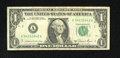 Error Notes:Ink Smears, Fr. 1912-A $1 1981A Federal Reserve Note. Fine.. Five horizontalink smears are found on the back of this $1. ...