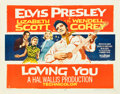 """Movie Posters:Elvis Presley, Loving You (Paramount, 1957). Half Sheet (22"""" X 28"""") Style A.. ..."""