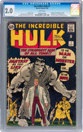 Silver Age (1956-1969):Superhero, The Incredible Hulk #1 (Marvel, 1962) CGC GD 2.0 White pages....