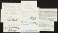 Football Collectibles:Others, Football Greats Signed Notecards lot of 9....