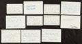 Hockey Collectibles:Others, Hockey Greats Signed Notecards lot of 11....