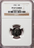 Proof Roosevelt Dimes: , 1952 10C PR67 Cameo NGC. NGC Census: (50/36). PCGS Population(45/7). Numismedia Wsl. Price for problem free NGC/PCGS coin...