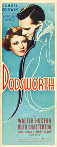 "Movie Posters:Drama, Dodsworth (United Artists, 1936). Insert (14"" X 36"").. ..."