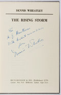 Books:Fiction, Dennis Wheatley. INSCRIBED. The Rising Storm. Hutchinson& Co., [n.d.]. First edition. Inscribed by the author. ...