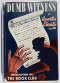 Books:Mystery & Detective Fiction, Agatha Christie. Dumb Witness. The Book Club, [ca. 1937].Illustrated with four half-tones. Special edition for publ...
